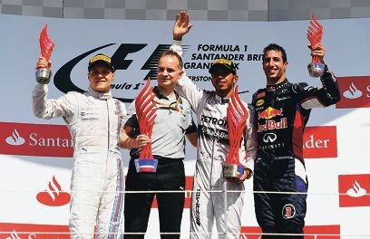 during the British Formula One Grand Prix at Silverstone Circuit on July 6, 2014 in Northampton, United Kingdom.