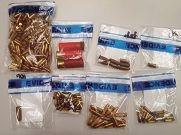 Ammunition found in a recycling bin.