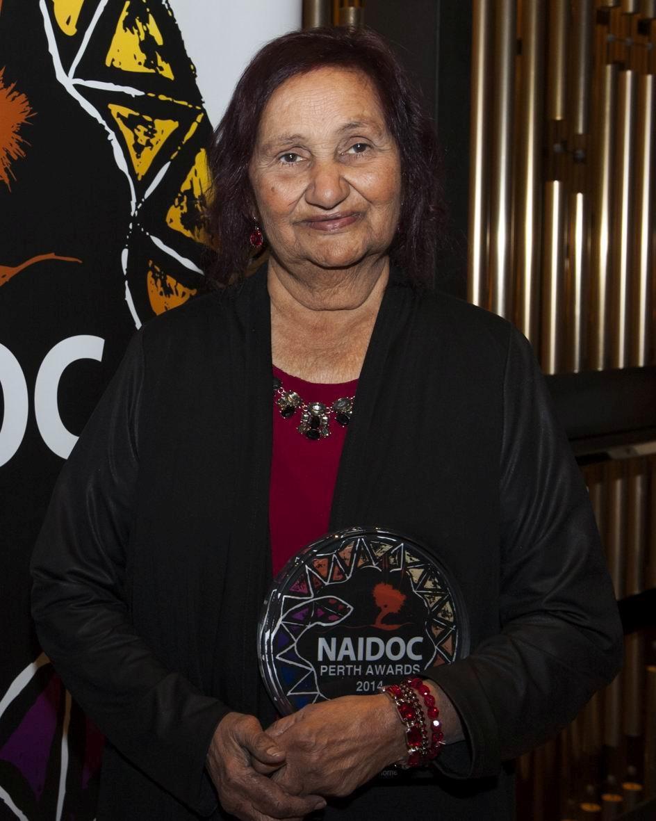 Naidoc Perth Awards winner Marie Thorne.