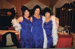 Jill Delary-Simpson, Anne Mackey and Bev Letton as The Supremes.