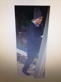 CCTV images of the suspected burglar of Boutique Travel Cafe.