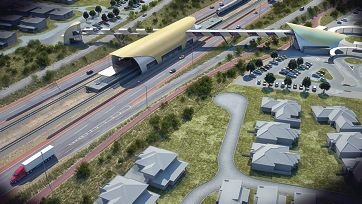 A concept image released by the Public Transport Authority shows the scale and location of the station but the PTA stressed the final station will end up looking quite different, with a designer/architect yet to come up with the final design.