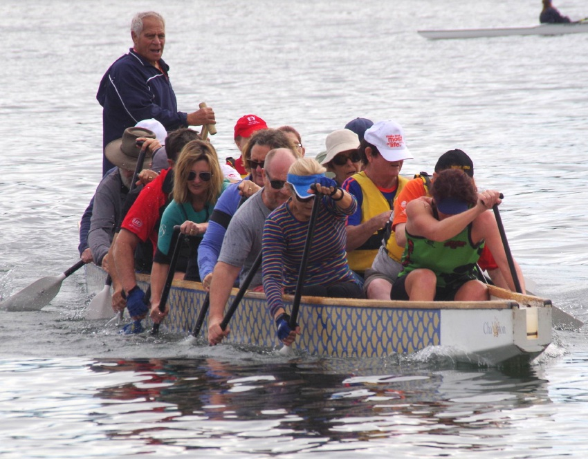 Locals attended a dragon boat try-out held by Cockburn Dragon Boat Club.