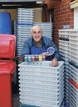 Jim Mendolia, the sardine man.Picture: Martin Kennealeyd421833