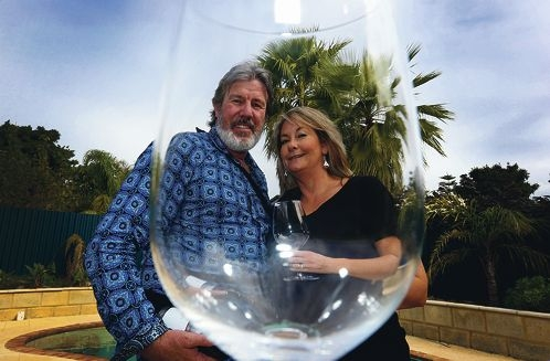 Mike and Fiona Blair are going booze-free this month.