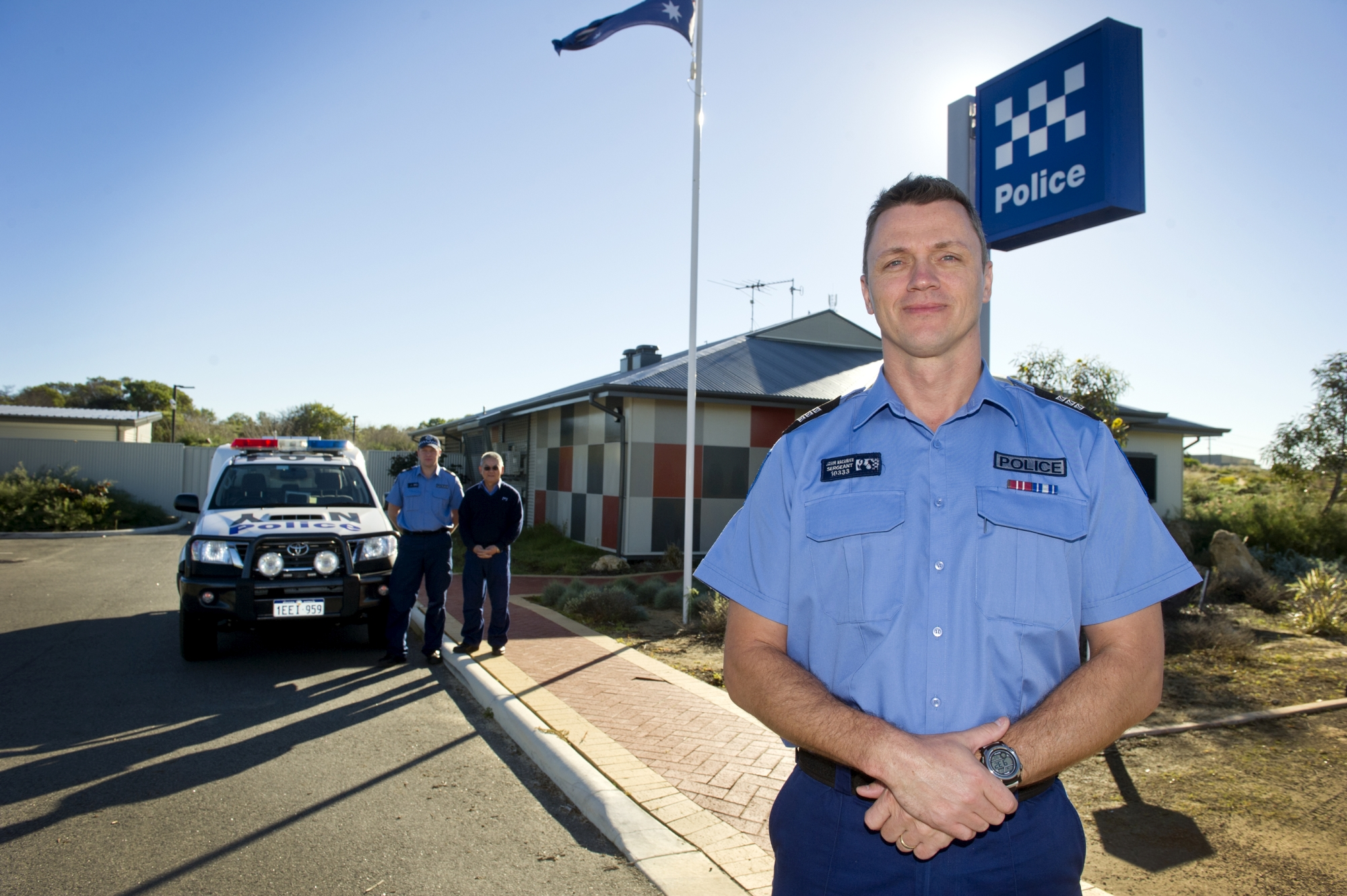 Sergeant Jason Macander is the new Officer in Charge at Yanchep Police Station