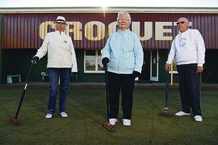 Bayswater Croquet Club secretary Marjorie Maley, president Jacquie Ashby and treasurer Trevor Ashby.