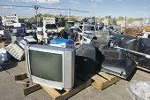Television sets are among the collection items
