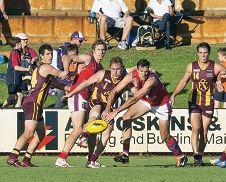 West Perth taking on Subiaco earlier this season. Picture: Dan White.
