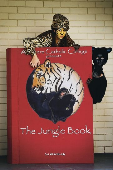 Aranmore Catholic College's Ranya Al-Doori and Bridget Hawkins in character for The Jungle Book. Picture: Andrew Ritchie d421732
