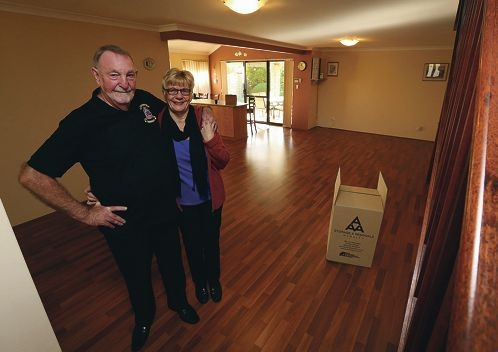 Frank and Rosemary Baldry in their empty house. Picture: Matt Jelonek www.communitypix.com.au d421679