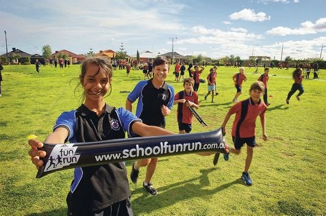 Students Nerida Bennell, Chayce Hockley, Ryan Taylor and Jamie Taylor took part in the School Fun Run.