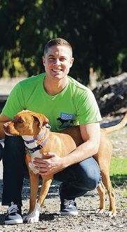 Hillarys resident Jeremy Thornett will take part in the Dogs' Refuge Home's 30 for 30 challenge. Picture: Marcus Whisson
