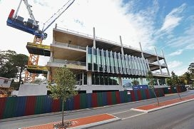 Work has recently begun on the new landmark building for the Armadale City Centre. Picture: David Baylis www.communitypix.com.au d420807