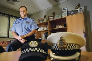 Inspector Geoff DeSanges became a police officer when he was 21.