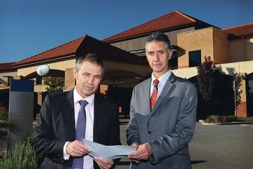 Opposition Health spokesman Roger Cook with Armadale MLA Tony Buti. Picture: Marcelo Palacios www.communitypix.com.au d421096