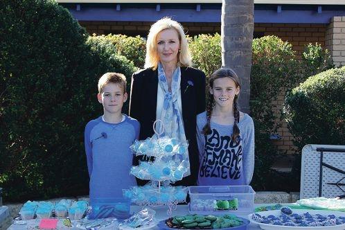 all in blue for Denise Millard