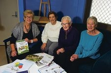 Kay Campbell with Ann Kothstein, Angie Beck and Colette Hunter. Picture: Emma Reeves d421185