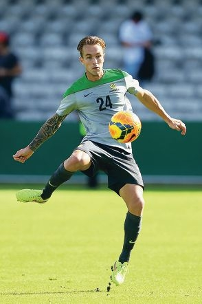 Taggart in training for Australia. Picture: Getty Images