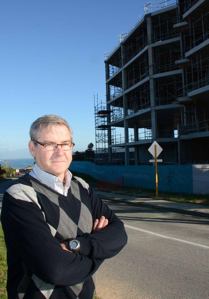 John Rogers opposes higher flats on the Mosman Park-Fremantle border. |Picture: Jon Bassett