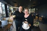 Neil and Andrea Platts at The Coffee Club in Joondalup Square. Picture: Emma Reeves