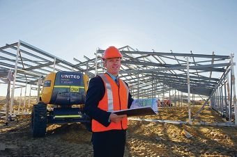 Adrian Pree is the principal of St James Anglican School, due to open in 2015. Picture: Emma Reeves d420865