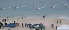 Rescue boat racing excites crowd