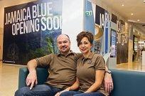 Jamaica Blue franchisees Scott and Berdine Summers.