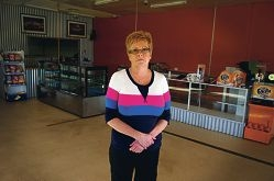 Joy Lindau said a prolonged drop in trade forced her to close her |Salacia's Cafe.Pictures: Emma Reeves d420752