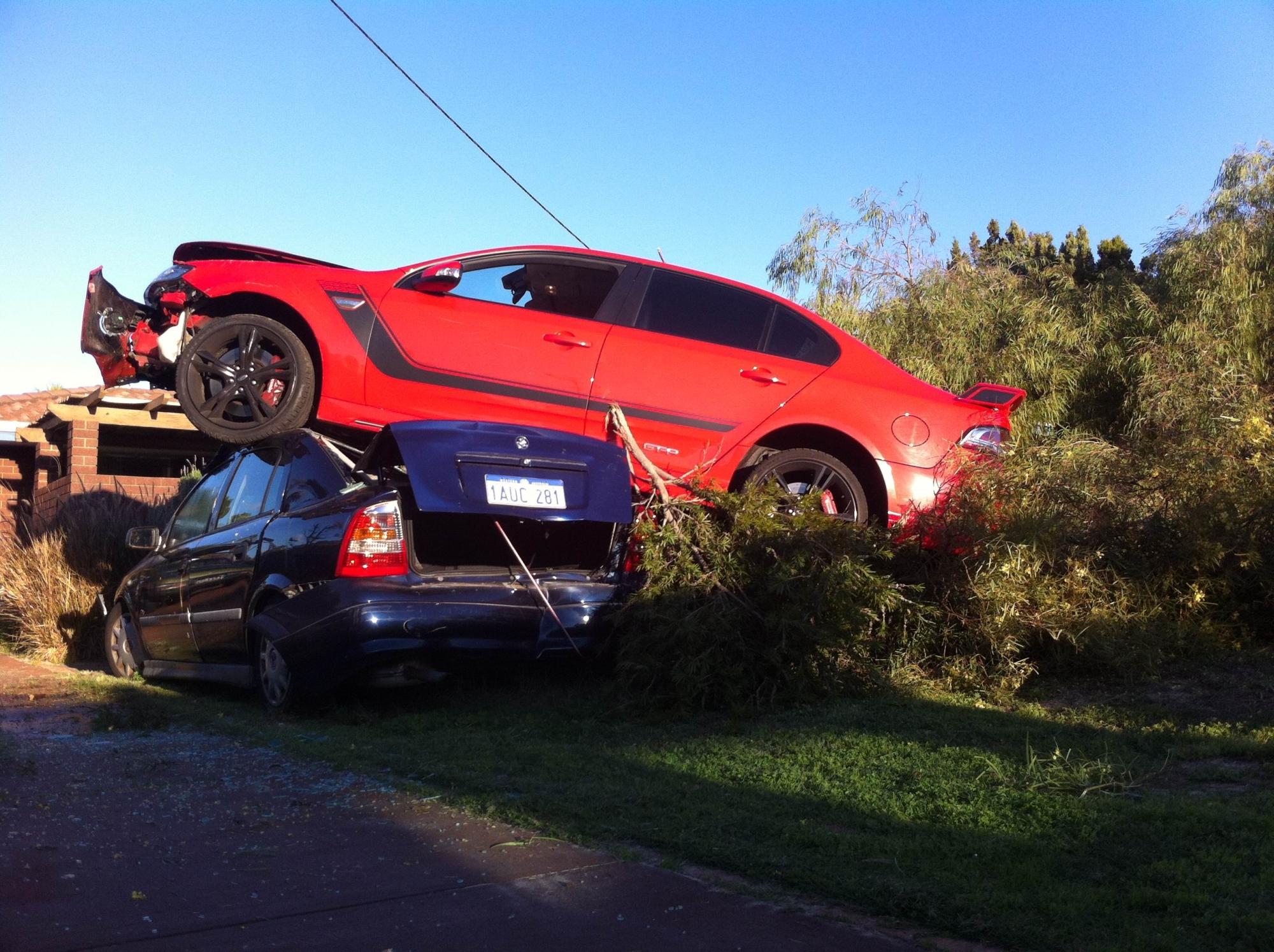 The scene of the crash on Monday.