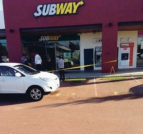The crime scene last Thursday.