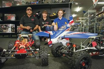Aaron Ifould, Samantha Stirling and Matt Booysen are preparing for the WA Radio Control Expo. Picture: Emma Reeves www.communitypix.com.au d420178