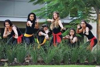 Dancers Leilani Ozies (Year 9), Jadaja Torres (Year 9), Jasmin Barunga (Year 10), Kiehana Carter (Year 9), Hannah Chulung (Year 9) and Ashlyn Hassett (Year 11).