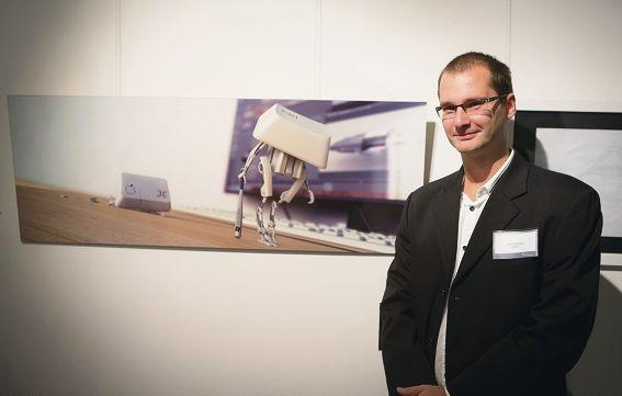 Serg Sobolev and his winning computer-generated image.