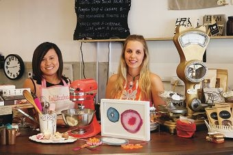 Clarissa Yates and Emma Kalotas at Rokeby Road cafe Kookery with their creations. Picture: Andrew Ritchie www.communitypix.com.au d420668