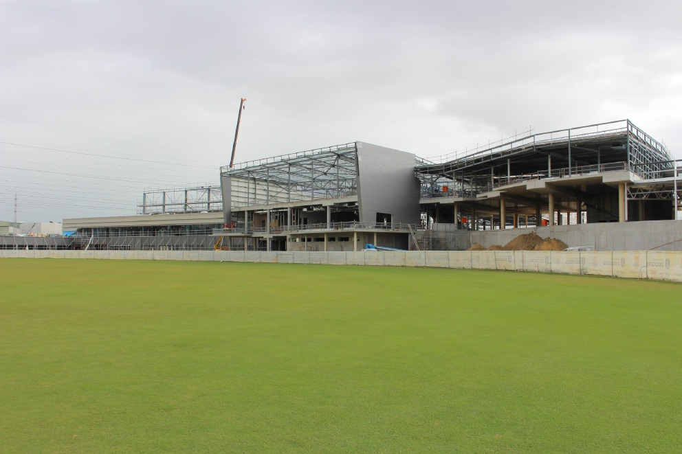 A picture of Cockburn ARC, which is under construction in Cockburn Central West.