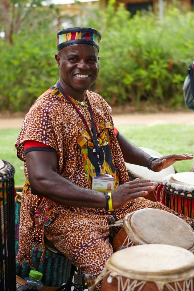 African drumming workshop for adults at Clarkson Library