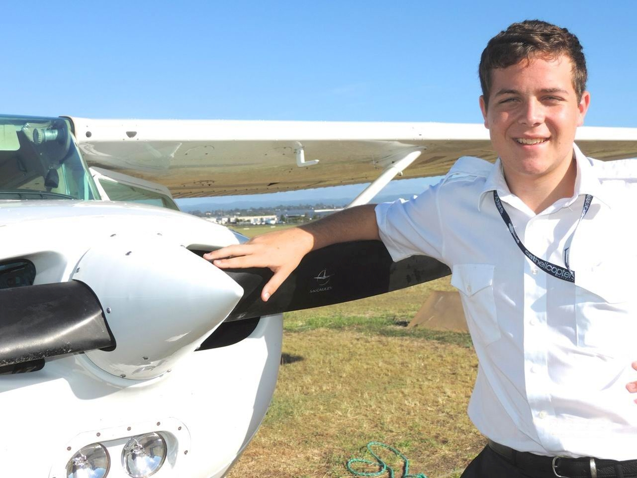 Young pilot Alex Fisher will perform the Flight of Solidarity around Australia.