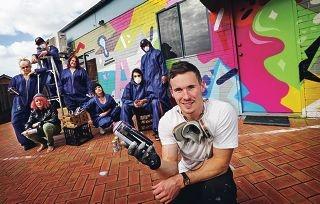 Perth graffiti artist Luke O' Donohue.