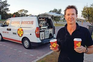 Coffee Rescue operator Justin Murphy fears there is not enough business for another roadside food van at Mosman Beach.
