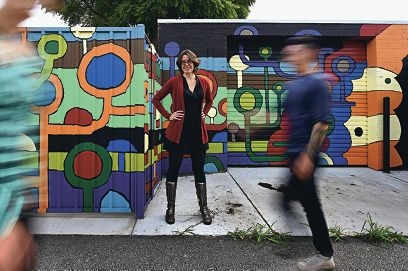 Mt Lawley artist Mel McVee of the Laneway Collective.