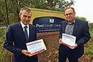 Opposition health spokesman Roger Cook and Mandurah MLA David Templeman.