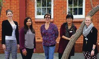 Teachers Alicia Taylor, Audrey D'Cruz, Sue Millar, Sistha Halim and Shannon May.