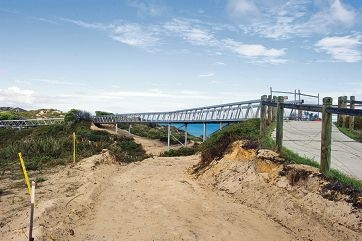 The aluminium boardwalk in Yanchep, which will be lowered. Picture: Emma Reeves www.communitypix.com.au d420322