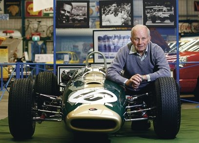 Bob Ilich, who was a mechanic working for Jack Brabham during 1966-67, at the museum's tribute corner for the racing legend. Picture: Marie Nirme www.communitypix.com.au d420144