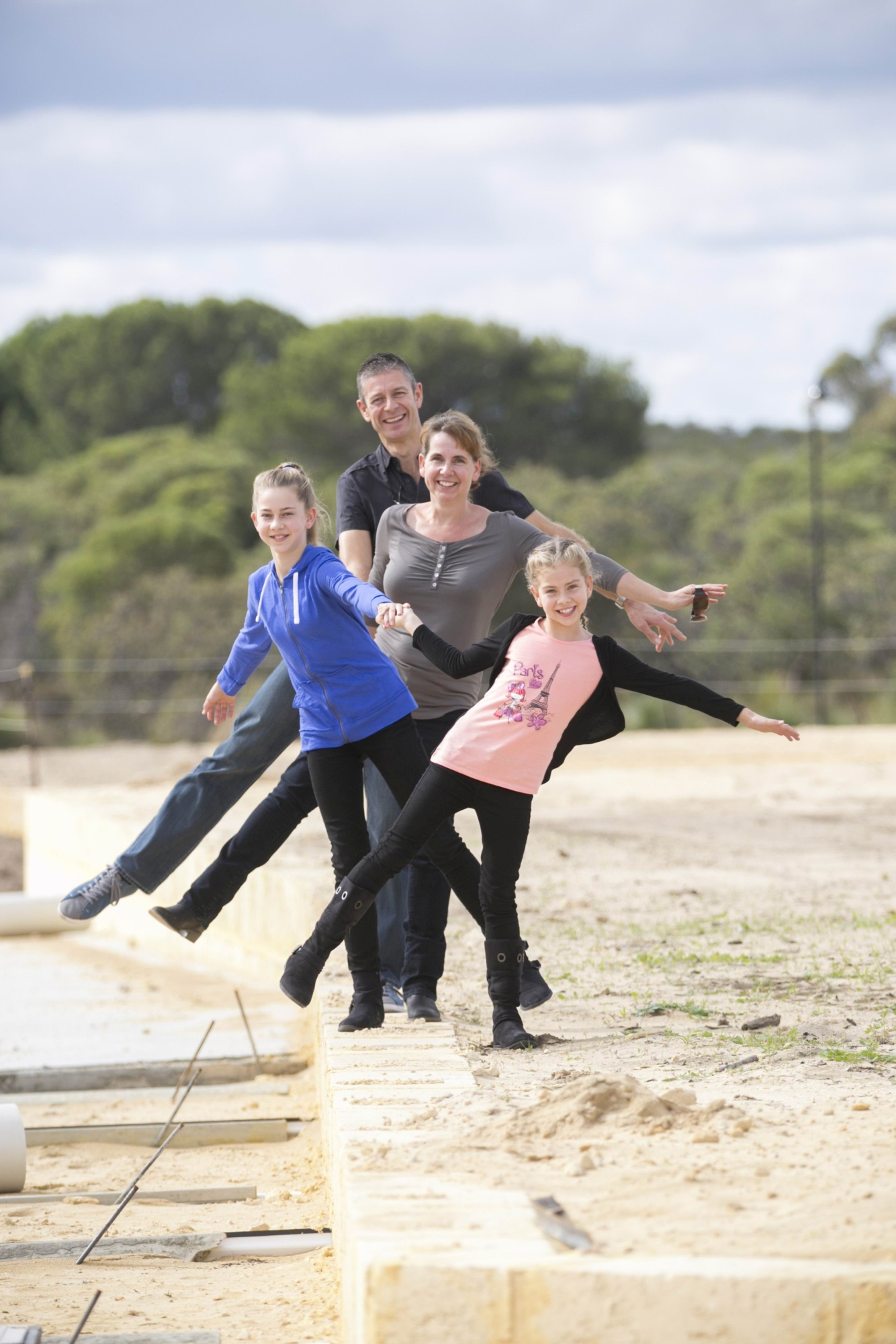Richard Pyke, his wife Lynn and daughters Abigail (11) and Ruby (9).