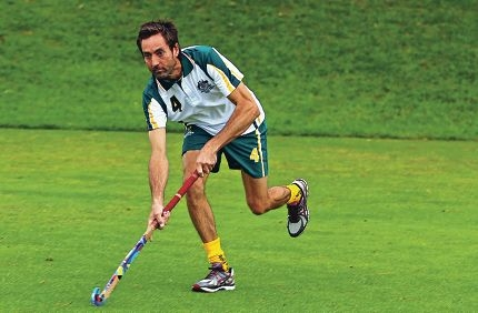 Bring it on: Paul Armitage is excited to be playing for his country. Armitage played for the WA Thundersticks and was twice the Olympians' Medallist, awarded to the best player in the local league.