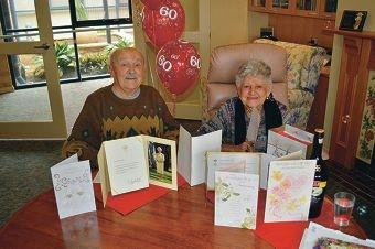 """Sydney and Leryda Cragg described their 60th wedding anniversary celebrations as 