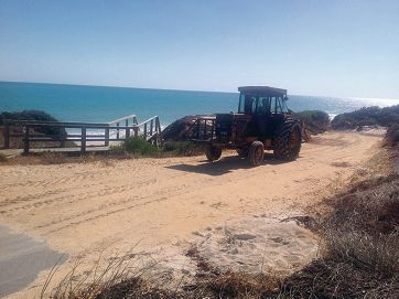A newly built road gives people beach access in Seabird.