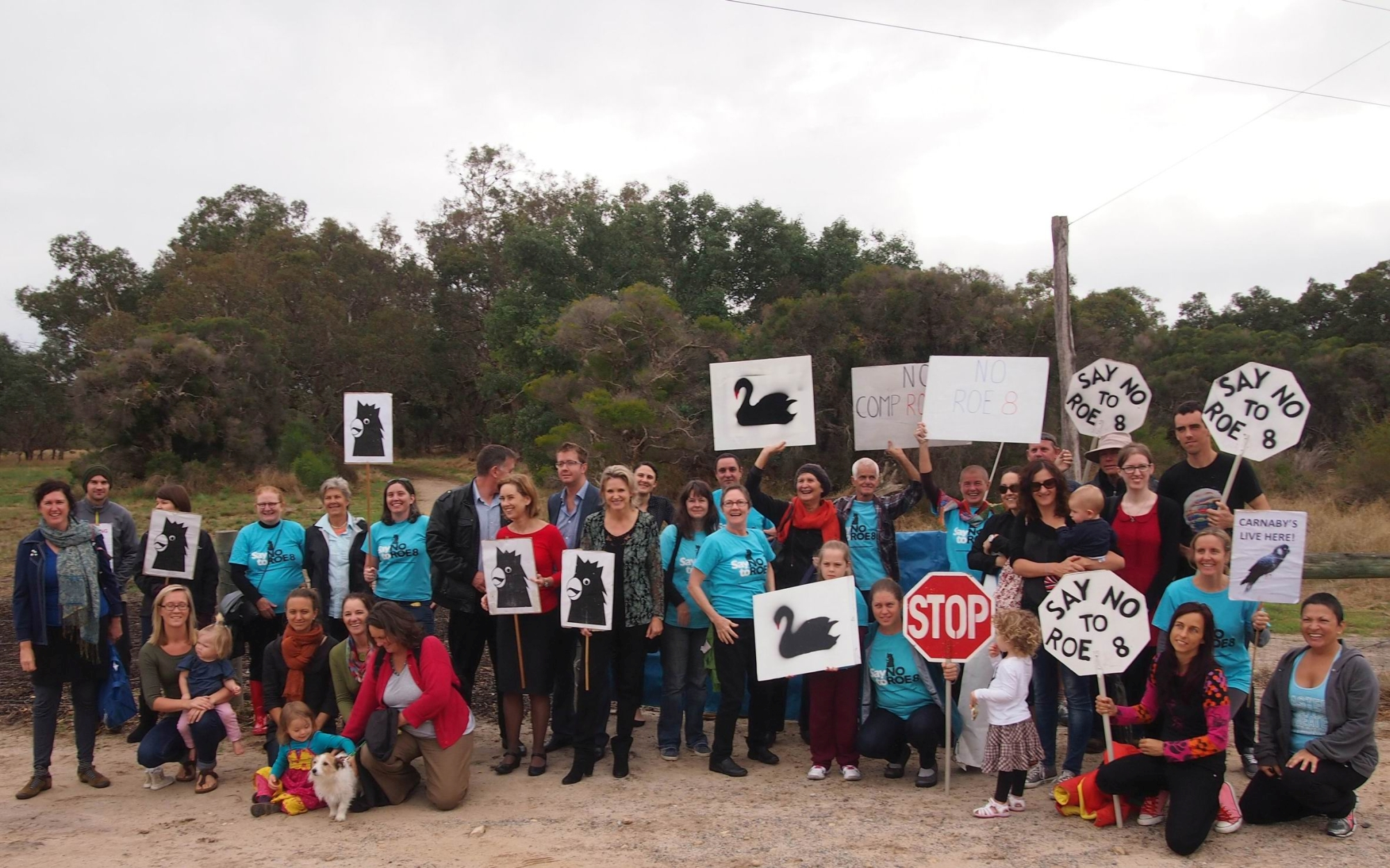 Save Beeliar Wetlands supporters have threatened civil action.